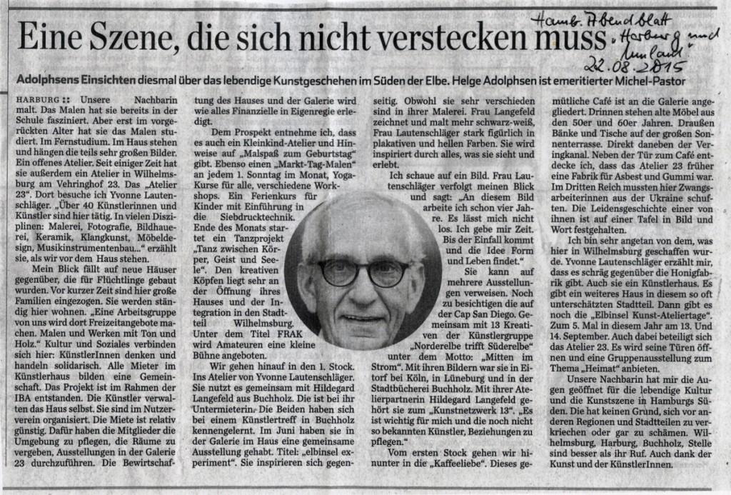 Hamburger Abendblatt 22.8.2015